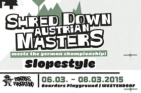 Shred Down Austrian Masters - Snowboard Freeride Contest in Westendorf