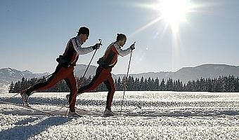 Cross-Country Skiing at the Brixental...